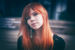 Тлен (Chizury) Tags: ifttt 500px red portrait girl beauty light summer bokeh beautiful closeup adult cute female pretty white hair model face black young redhead long dress redhair natural attractive one person head shoulders caucasian ethnicity