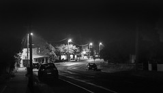 Main Street by night (RWYoung Images) Tags: rwyoung olympus em1mk11 hepburn night street urban light bw monochrome victoria