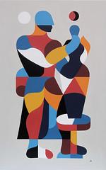 LE TOURNEUR & LA JARRE. Acrylique sur toile. 148x88cm.2016
