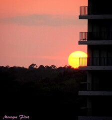 Sunset (moniquef123) Tags: sunset sun sky pink building myrtlebeach nature landscape weather weatherphotography evening
