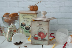 Delicious coffee (Button-NK) Tags: decoupage hobby stilllife jars coffee sweets delicious tea cuisine