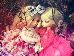 New friend :) (Nirmrill) Tags: dolls bjd leekeworld leekeworldashley leekeworldmia intheforest hellospring dollsphotography
