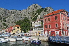 river in the town :) (green_lover) Tags: omiš croatia town buildings mountains boats water architecture travels friendlychallenges winner