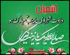 1 شعبان ولادت شہزادی زینبؑ مبارک ہو (ShiiteMedia) Tags: shiite media shia news pakistan killing شیعہ نسل کشی aein abbas admin