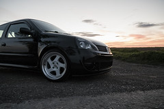 Clio (Simon Hubbert) Tags: clio mk2 non sport mk3 mk4 mk1 stance france black clean modified lowered whistler wheels alloys shine reflection uk england nature farms countryside yorkshire hull east sun sunset sky clouds