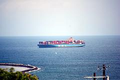 DSC_1382-61 (jjldickinson) Tags: nikond3300 106d3300 sanpedro losangeles sky cloud lookoutpointpark ocean water shippingcontainer container ship containership portoflosangeles harbor nikon55200mmf456gedifafsdxvrnikkor promaster52mmdigitalhdprotectionfilter