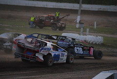 Using all the track (Joe Grabianowski) Tags: street ny cars stock racing dirt modified oval ransomville dirtcar