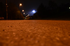 Road at Night (Luis T. Dietz) Tags: road orange night lens lights flares