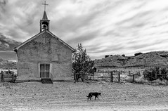 Cabezon church (Bob Baker ELCC) Tags: blackandwhite ghosttown cabezon southwestern