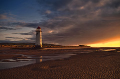 Welsh Sunset (Steve Wilson - over 2 million views thank you) Tags: uk sunset sea lighthouse beach wales point sand nikon dunes north welsh ayr talacre northwales pointofayr talacrelighthouse d7000 nikond7000