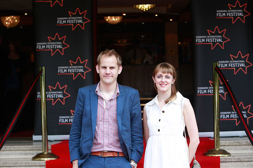 Directors James Erskine and Zara Hayes at a photocall for Battle of the Sexes at the Dominion Cinema