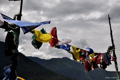 Fluttering Colors (@mons.always) Tags: travel mountains clouds nikon asia bhutan buddhism prayerflags paro d90 18105mm