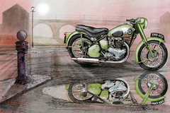 Should I stray to the house on the hill (artandfurniture2012) Tags: bsaclassic watercolour britishcars britishmotorbikes carpainting landscapeartists landscapewatercolourart johnlowersonwatercolours johnlowersonart watercolours watercolourpainting watercolourists watercolourartists waterysun britishmotorcycleart britishbikes bsamotorcyclesgroup bsamotorcycles bsatwin httpswwwfacebookcompagesjohnlowerson336445223119933 httpwwwphoto4mecomjohnlowersonart httpwwwsaatchionlinecomprofilesportfolioid349670 bsa a7 startwin british motorcycles johnlowerson landscapes paintings