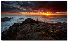 """My biggest worry is that my wife (when I'm dead) will sell my fishing gear for what I said I paid  for it."" (danishpm) Tags: ocean rock clouds sunrise canon seascapes australia wideangle nsw hastings aus 1740mmf40l rockfishing hastingspoint hitechfilter 5dmkiii sorenmartensen hitechreversegradfilter"