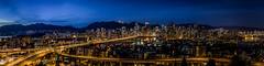 Vancouver City Scape (Ted Ng) Tags: panorama vancouver britishcolumbia falsecreek englishbay bluehour granvilleisland vancouverdowntown