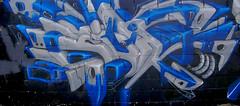 Blue & Grey Wai (See El Photo) Tags: street city blue urban 15fav favorite streetart color colour wall outside outdoors grey graffiti robot paint colore grafiti graf olympus urbanart spraypaint fav graff wai cbs grafite faved  sram 2colors x100   d540z c310z