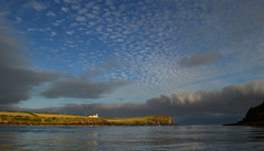 Dingle Bay (Barbara Walsh Photography) Tags: trip sunset sea sky lighthouse nature water reflections evening bay boat day tour cloudy dingle nikond5100
