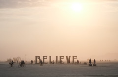 Believe! at the Burning Man (Dan Hogman) Tags: sculpture usa art festival unitedstates desert nevada playa cargo burningman blackrockcity brc cult burner theman instalation blackrockdesert cargocult burningman2013 danhogman