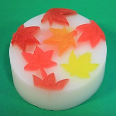 Autumn Leaves, Round $3.00 (Clelian Heights) Tags: fall leaves soaps unscented decorativesoaps cleliansoaps cleliancenter
