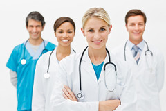 DISCOVER DOCTOR (discoverdoctor) Tags: life girls portrait people woman white man color male men guy girl beautiful beauty smile face up smiling closeup modern lady female standing work hospital happy four person team uniform looking close background group young professional medical staff health human doctor blond american nurse care labcoat stethoscope confident assistant