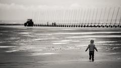 Beach is mine (Sylvain_Latouche) Tags: blackandwhite beach clouds nikon ambientlight running 169 alix nikond800 sylvainlatouche 70200f28vrii