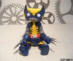 Wolverine Robot (Sleepy Robot 13) Tags: cute robot diy handmade robots polymerclay fimo comicbook kawaii sculpey etsy urbanvinyl marvel sculpting smallbusiness sleepyrobot13 polymerclayurbanvinylsleepyrobot13etsysilvercraftcraftscraftingsculptingsculpturefigurinearthandmadecraftshowcutekawaiirobots