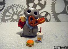 Rotund Robot (Sleepy Robot 13) Tags: cute robot diy handmade robots polymerclay fimo comicbook kawaii sculpey etsy urbanvinyl marvel sculpting smallbusiness sleepyrobot13 polymerclayurbanvinylsleepyrobot13etsysilvercraftcraftscraftingsculptingsculpturefigurinearthandmadecraftshowcutekawaiirobots
