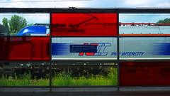 intercity (Darek Drapala) Tags: city light color station train lumix poland polska railway trains panasonic warsaw g2 warszawa panasonicg2 fromyoutous vision:text=0981
