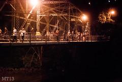 Crossing The Blackfriars (01/07/2013) (Matthew Trevithick Photography) Tags: bridge people ontario canada london night dark walking 50mm lights nikon matthew pedestrians blackfriars canadaday trevithick 2013 matthewtrevithick mtphotography