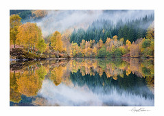 Autumn Reflections, Loch Tummel (George-Edwards) Tags: morning autumn trees mist lake fall water fog sunrise reflections landscape dawn scotland highlands nikon colours perthshire perth pitlochry kinross lochtummel strathtummel georgeedwards