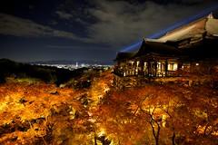 Kiyomizu-dera temple in Kyoto (Thomo13) Tags: autumn red fall leaves yellow japan canon temple eos kyoto mark ii 5d kiyomizu koyo momoji ringexcellence dblringexcellence infinitexposure