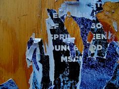 pentimento #4... (bruce grant) Tags: cartazes rasgados