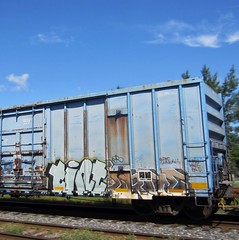 TINT, ERGE '00 (YardJock) Tags: graffiti spraypaint boxcar hopper freighttrain railwaytracks autorack moniker thesoloartist benching