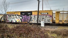 KEEP6.BIGMILES1 (MINNESOTA MUNSTER) Tags: art station oregon train bench one graffiti big paint tracks spray eugene keep miles graff six freight sdk flickrandroidapp:filter=none