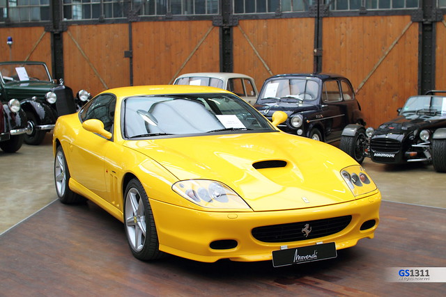 pictures auto 2002 wallpaper cars car yellow photo high automobile foto image photos picture 2006 images ferrari m gelb fotos vehicle resolution autos bild bilder gros 575m 575 automobil auflösung