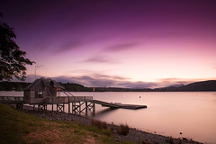 Long exposure photograph at Te Anau, South Island, New Zealand (wolfmaster13) Tags: new newzealand lake water islands twilight south zealand te anau