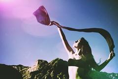 Untitled (Haley Scheuerlein) Tags: light sun mountain color nature girl beautiful movement grace flare inspire haley ribon scheuerlein uploaded:by=flickrmobile dublinfilter flickriosapp:filter=dublin haleyscheuerlein