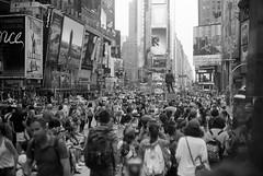 Leica Glow (bhop) Tags: street new leica york nyc bw ny film canon square 50mm kodak f14 trix rangefinder tourist 400 times m6 premium screwmount arista