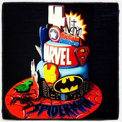 Other side of the AMAZING superheroes cake! #marvel #marvelcomics #customcakes #ironman #hulk #superman #spiderman #superhero #batman #wolverine #captainamerica #thor #amazingcake #royaltycakes #wecanmakeanything #customtoyourliking #followus #edibleart # (Royalty_Cakes) Tags: buildings square 4 lofi spiderman ironman squareformat superhero batman hulk thor marvel edible captainamerica fondant edibleimage iphoneography instagramapp fondantpieces spidermanboard
