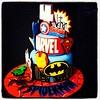 Other side of the AMAZING superheroes cake! #marvel #marvelcomics #customcakes #ironman #hulk #superman #spiderman #superhero #batman #wolverine #captainamerica #thor #amazingcake #royaltycakes #wecanmakeanything #customtoyourliking #followus #edibleart # (Royalty_Cakes) Tags: buildings square 4 lofi spiderman ironman squareformat superhero batman hulk thor marvel edible captainamerica fondant edibleimage iphoneography instagramapp fondantpieces spidermanboard