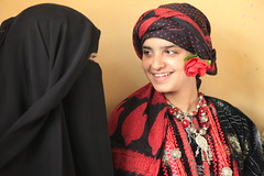 Reem with her mother, Wadeeda, in traditional Yemeni garb.