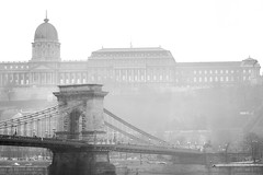 misty (crybaby75) Tags: castle fog canon photography hungary moody budapest foggy saturday photowalk bigcalm 2014 chainbridge 1000d canoneos1000d