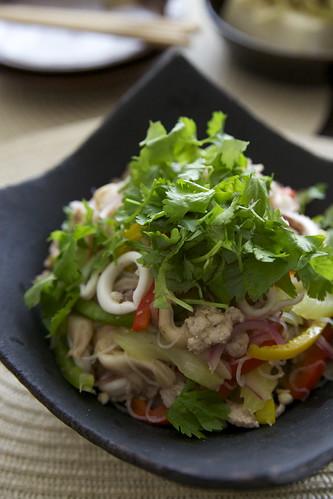 イカと豚挽き肉のヤムウンセン