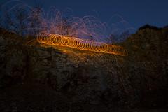 (jrmilie) Tags: light lightpainting night painting de la peinture lumiere nuit 000 dans laine etincelles dacier
