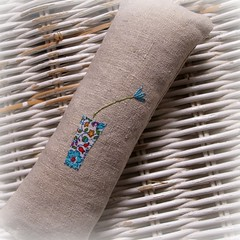 lavender girl back spring bloom (lili_popo) Tags: cute whimsy hand stitch linen embroidery applique whimsical