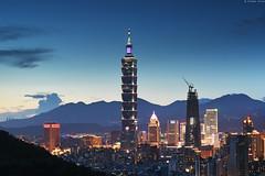 台北・Taipei city (Iyhon Chiu) Tags: 台北101 台北 台北市 台灣 夜景 城市 taipei101 taipei skyscraper skyscrapers taiwan nightfall night dusk cityscape urban city 2016