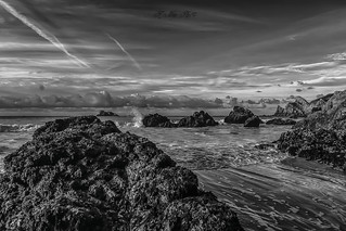 Towards the point of Toulinguet, peninsula of Croszon, Brittany France
