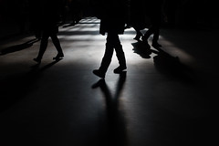 Shadows (dtanist) Tags: nyc newyork newyorkcity new york city sony a7 canon fd 50mm manhattan grand central terminal commuters shadows walking