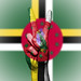 Peace Symbol with National Flag of Dominica