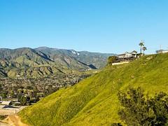 "The green green hills of....san bernardino? Notice the ""arrowhead"" over in Waterman Canyon. (bossco) Tags: castaways arrowhead sanbernardino green"